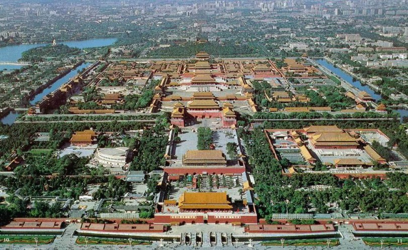 Aerial shot of The Forbidden City